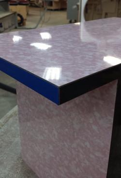 Close up to Ana Kras' table