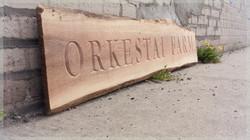 Sign for Orkestai Farm