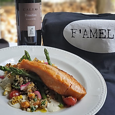 Pan Grilled & Chilled Salmon Salad