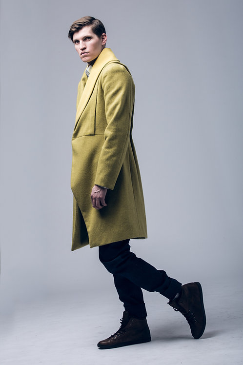 MOUNDS shawl collar coat