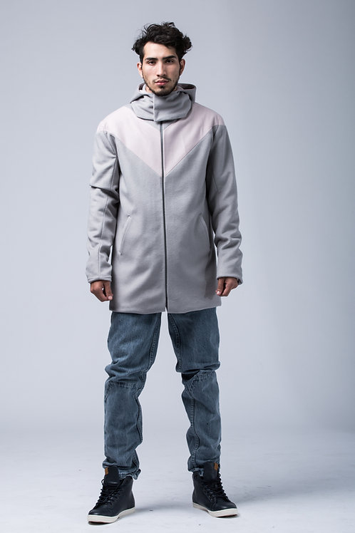 Pargen hooded wool coat