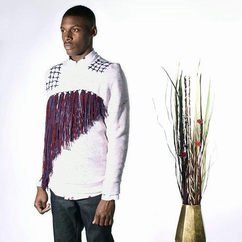 Textured Embroidered Sweatshirt
