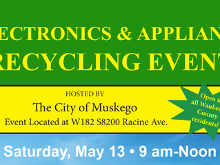 Waukesha County Special One-Day Electronics and Appliance  Recycling Event.