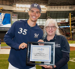 AROW Honors Milwaukee Brewers' Pitcher Brent Suter for Outstanding Achievement in Waste Reduction &a