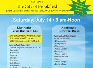 Waukesha County Special One-Day Electronics And Appliance Recycling Event