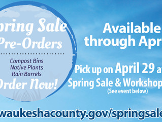 Retzer Nature Center's Spring Sale Pre-Orders Are Live!