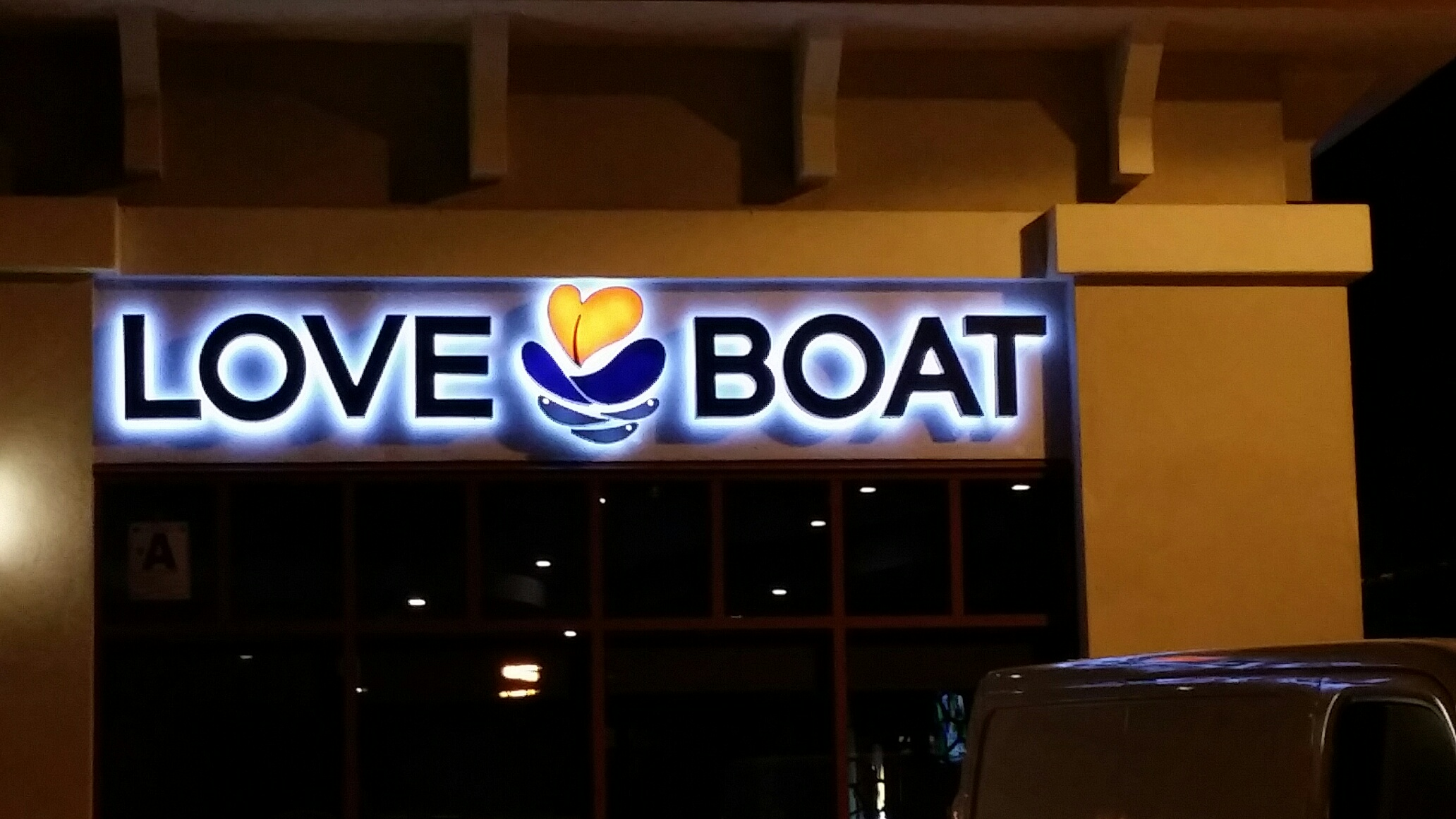 Electric Sign, Neon Sign, Love Boat