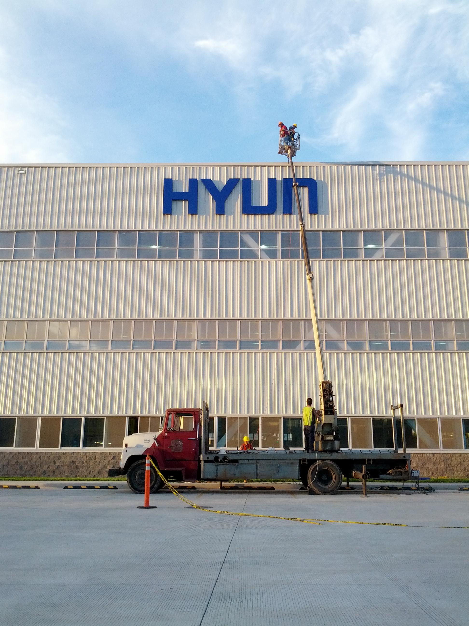 Sign, Hyundai Sign, Exterior Sign