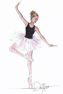 Ballerina art, ballerina gift