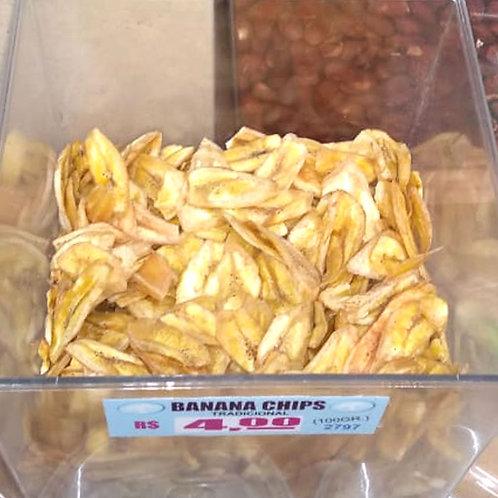 Banana Chips Salgada 200g - Frutas Secas