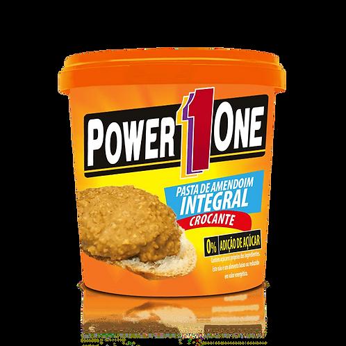 Pasta Integral de Amendoim Crocante 1kg  - Power 1 One