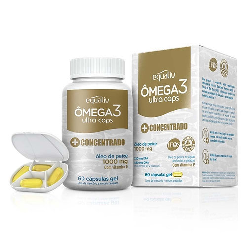 Omega 3 Ultra Caps com 60 Cápsulas em Gel - Equaliv