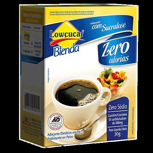 Adoçante Lowçucar Blenda com Sucralose em pó 50 sachês (30g) - Lowçucar