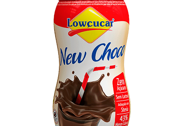 Achocolatado New Choco Zero açúcar 210g - Lowçúcar
