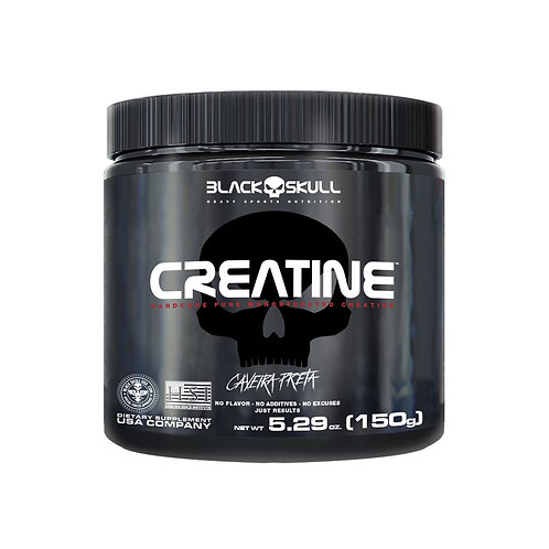 Creatine Caveira Preta 150g - Black Skull