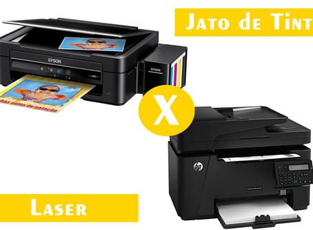 Impressora Jato de Tinta ou Impressora laser