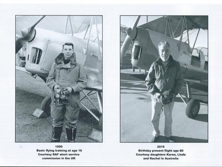 80th Birthday Flight in Tigermoth