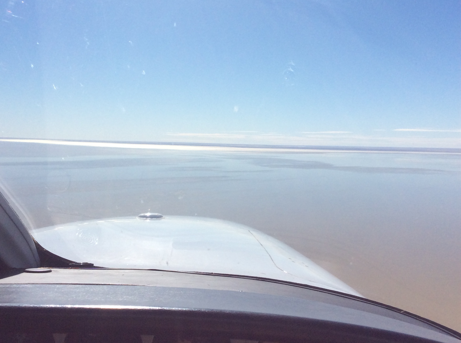 Shallow ripples of north lake eyre