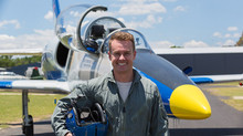 'Squid' takes Grant Denyer up for a hot lap in the jet
