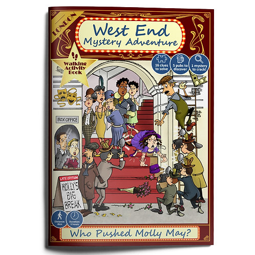 London's West End Mystery Adventure Book: Who Pushed Molly May?