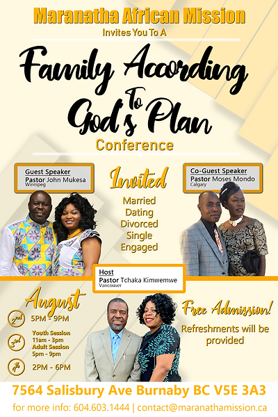 Family According To God's Plan Official Poster