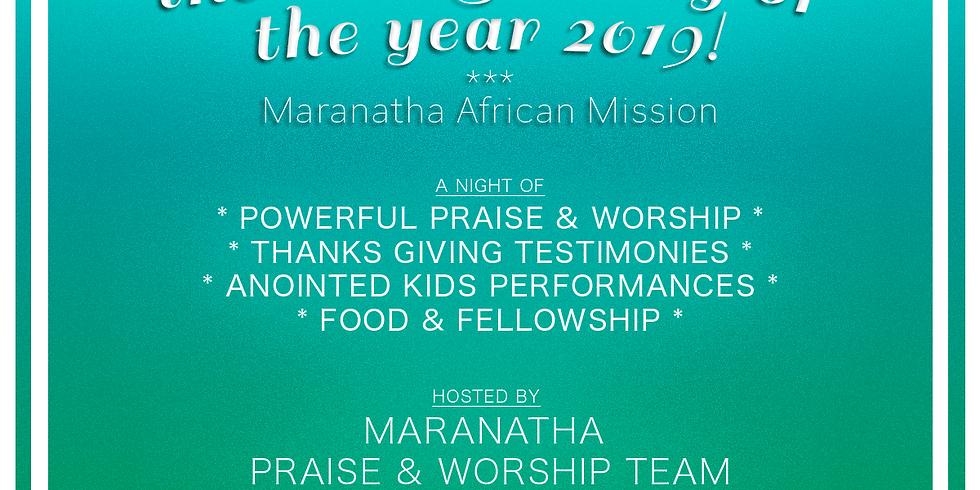 Last Sunday of the Year 2019 Celebration!