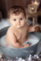 photographe bebe bain de lait chatelaill