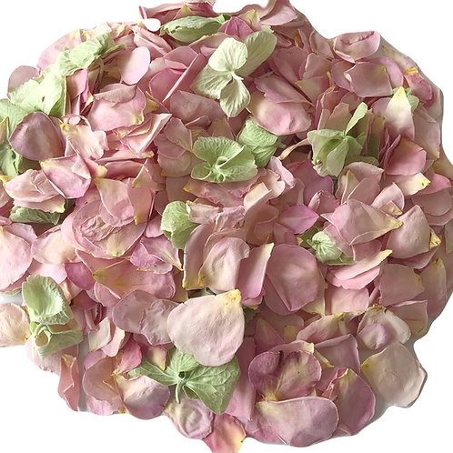 Pink Candy, a mixture of freeze-dried rose petals and hydrangea petals