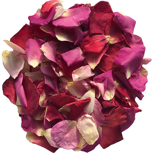Pink Burst freeze-dried rose petals