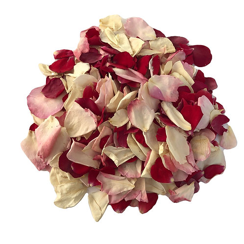 Strawberry Shortcake, rose petal confetti mix