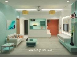 Mr. Sehgal's Flat interior Design at Boisar (W)