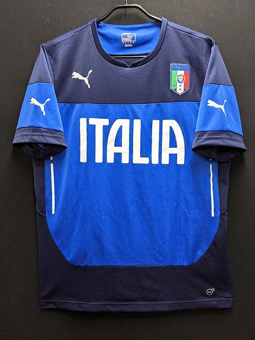 【2014】イタリア代表 トレーニングシャツ / Condition:B+ / Size:L