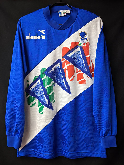 【1993/94】イタリア代表 長袖トレーニングシャツ / Condition:B+ / Size:L