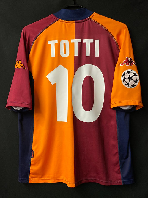 【2001/02】ASローマ(UCL/H)/ Condition:A / Size:XL