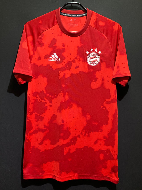 【2019/20】/ バイエルン ホームプレマッチシャツ / Condition:A / Size:L(日本規格)