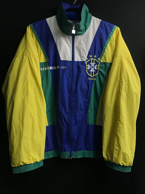 【1994/97】ブラジル代表代表 ウーブンジャケット/ Condition:A- / Size:S / 上下セット