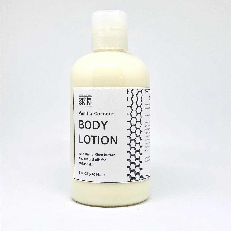 Hemp Vanilla Coconut Body Lotion | made for SKIN
