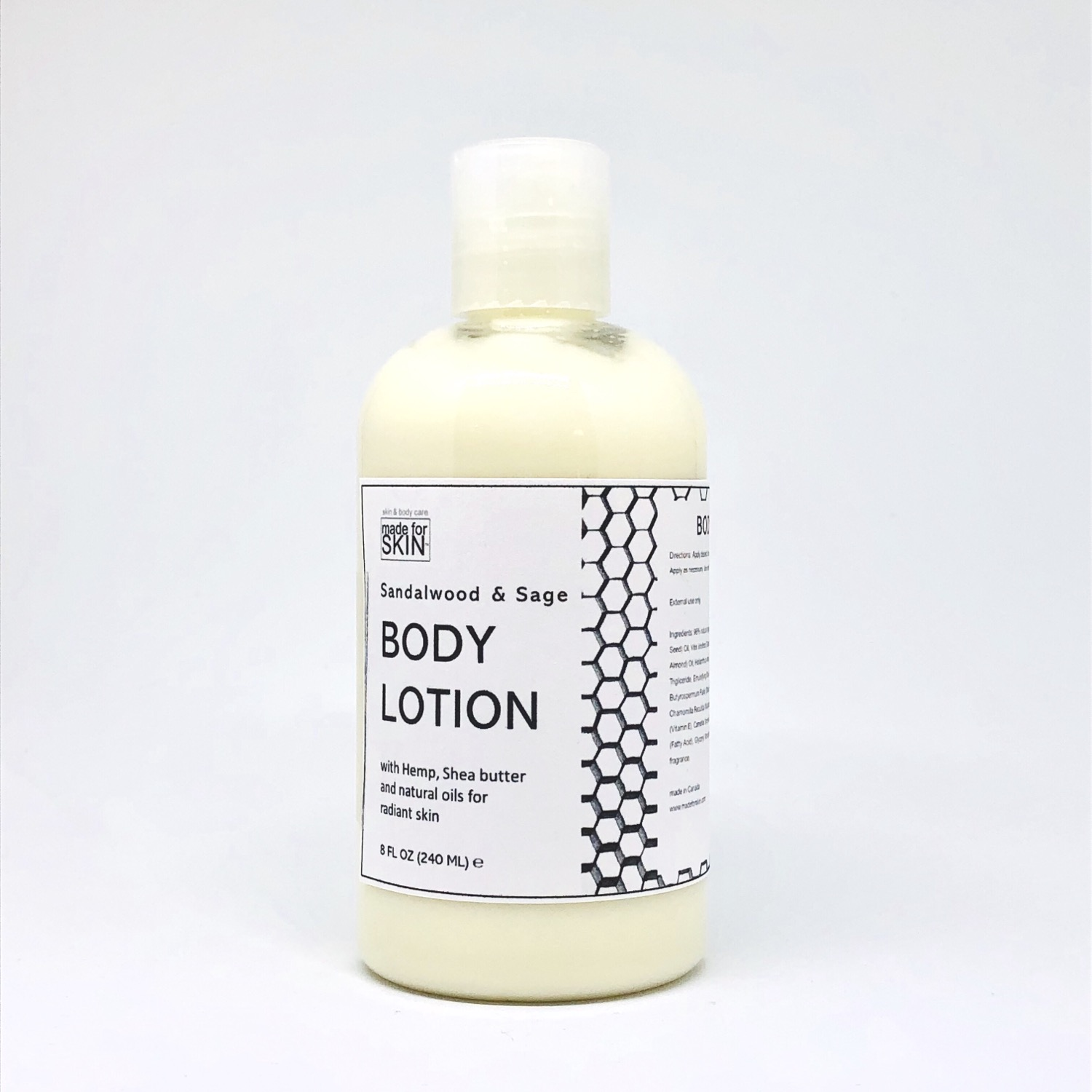 Hemp Sandalwood and Sage Body Lotion | made for SKIN