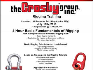 FREE Crosby Fundamentals of Rigging Course