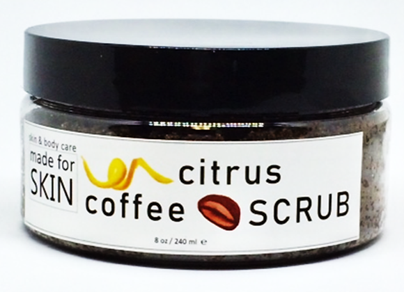 Coffee Body Scrub with Citrus essential oils | natural skin care | made for SKIN