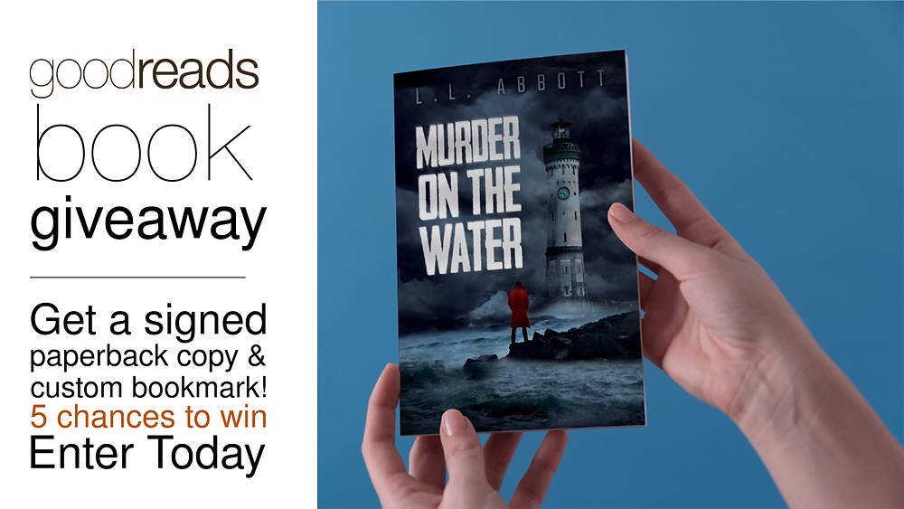 Win a signed copy of Murder On The Water with a custom bookmark