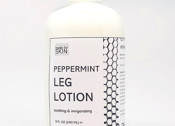 Organic Peppermint Leg Lotion | made for SKIN