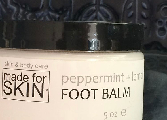 Organic Peppermint and Lemon Foot Balm | made for SKIN