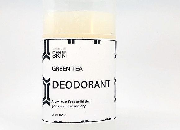 Green Tea Aluminum Free Natural Deodorant | made for SKIN