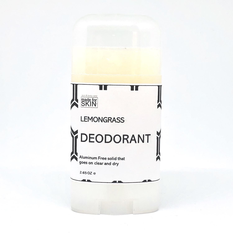 Lemongrass aluminum free natural deodorant | made for SKIN