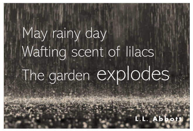 Rainy Day Haiku | writing inspiration | L.L. Abbott
