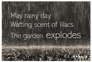 Rainy Day Haiku   writing inspiration   L.L. Abbott