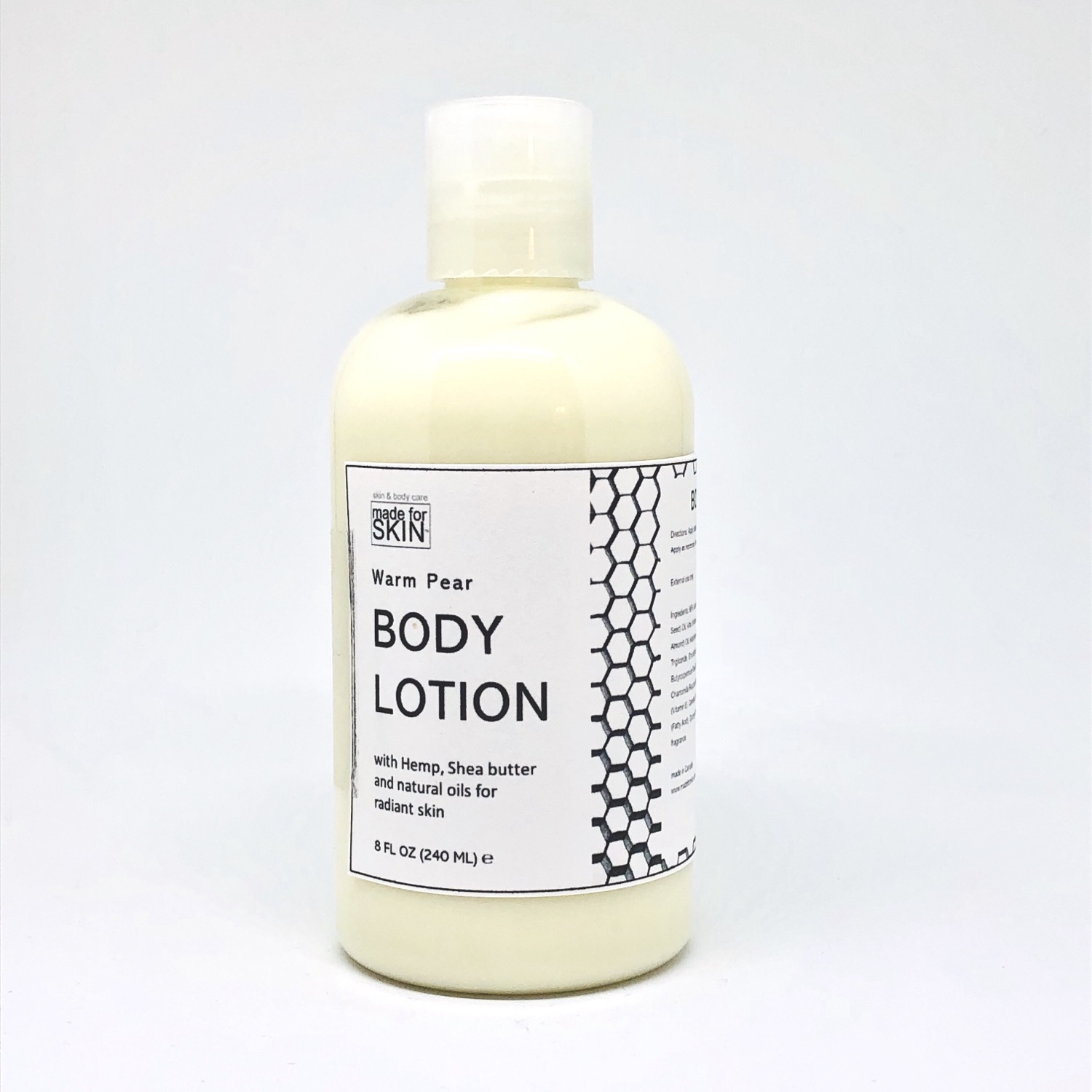 Hemp Warm Pear Body Lotion | made for SKIN