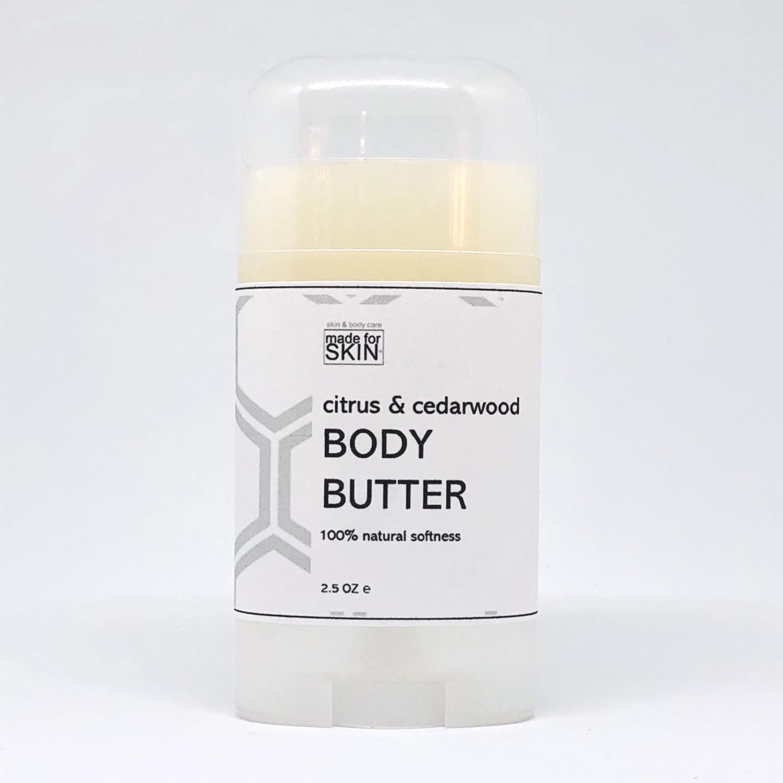 Hemp Citrus and Cedarwood Body Butter | made for SKIN
