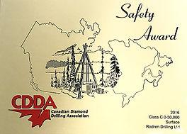 Canadian Diamond Drilling Association Safety Certificate | Rodren Drilling